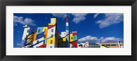 Framed Building With Geometric Decorations, Minneapolis, Minnesota, USA Print