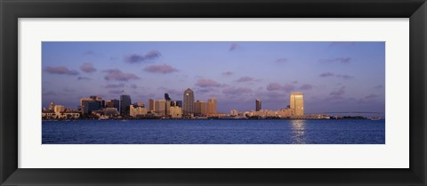 Framed Sunset, San Diego, California, USA Print