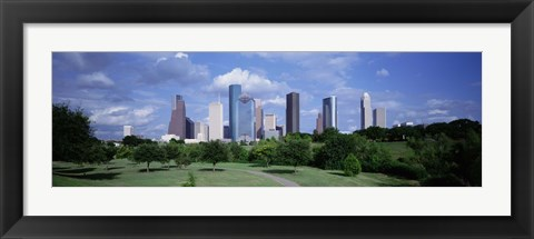 Framed Cityscape, Houston, TX Print