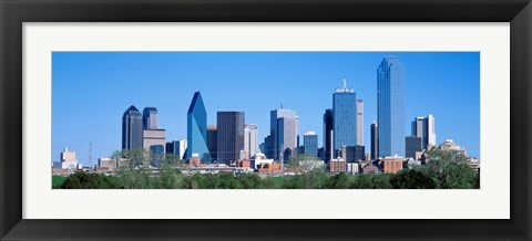 Framed Downtown Dallas Texas Print