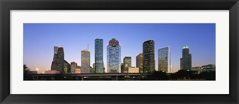 Framed USA, Texas, Houston Print
