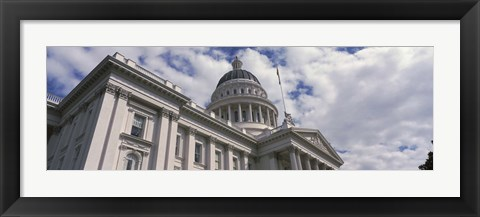 Framed USA, California, Sacramento, Low angle view of State Capitol Building Print