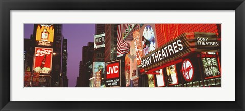 Framed Billboards On Buildings, Times Square, NYC, New York City, New York State, USA Print