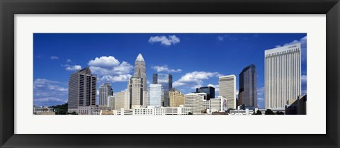 Framed Skyscrapers in a city, Charlotte, Mecklenburg County, North Carolina, USA Print