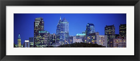 Framed Night, Philadelphia, Pennsylvania, USA Print