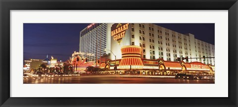 Framed USA, Nevada, Las Vegas, Buildings lit up at night Print