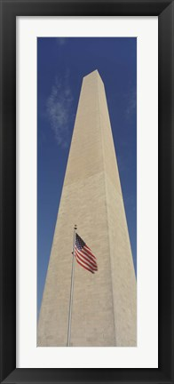 Framed Low Angle View Of The Washington Monument, Washington DC, District Of Columbia, USA Print