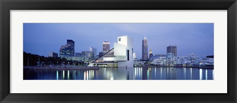 Framed Rock And Roll Hall Of Fame, Cleveland, Ohio, USA Print