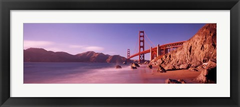 Framed Golden Gate Bridge and Mountain View Print