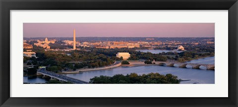 Framed Aerial, Washington DC, District Of Columbia, USA Print