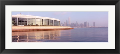 Framed Building Structure Near The Lake, Shedd Aquarium, Chicago, Illinois, USA Print
