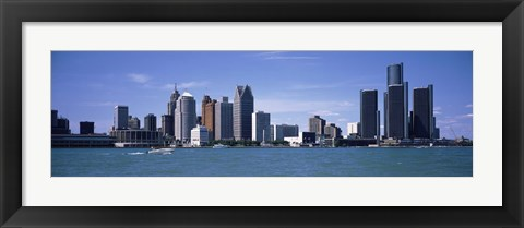 Framed Detroit Waterfront, Michigan (close-up) Print