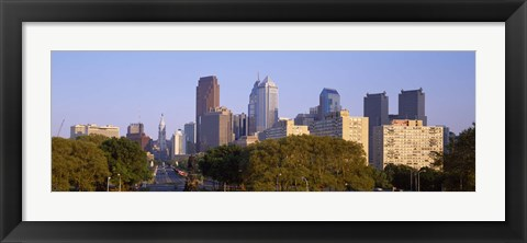 Framed Downtown Philadelphia, Pennsylvania, USA Print