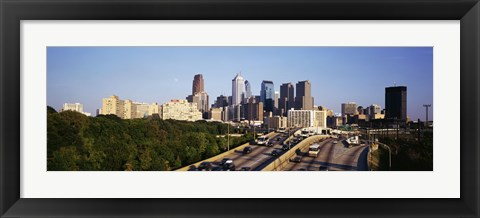 Framed Route 76 Skyline Philadelphia PA USA Print