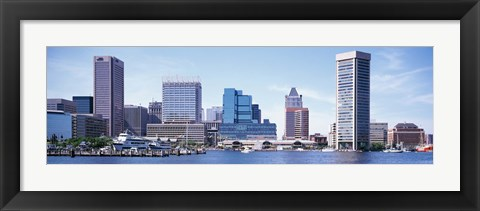 Framed USA, Maryland, Baltimore, Skyscrapers along the Inner Harbor Print
