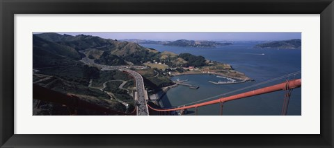 Framed View From the Top of the Golden Gate Bridge, San Francisco Print