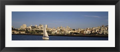 Framed Sailboat in an ocean, Marina District, San Francisco, California, USA Print