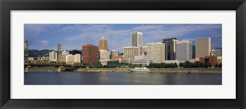 Framed Skyscrapers at the waterfront, Portland, Multnomah County, Oregon, USA Print