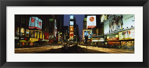 Framed Shopping malls in a city, Times Square, Manhattan, New York City, New York State, USA Print