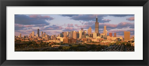 Framed Cityscape, Day, Chicago, Illinois, USA Print