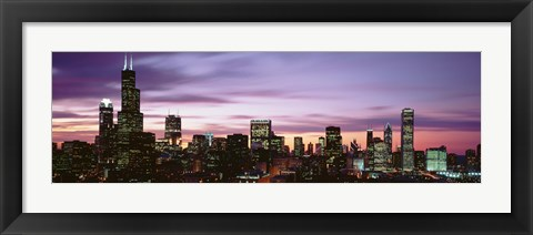 Framed Skyscrapers At Dusk, Chicago Print