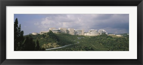 Framed Low angle view of a museum on top of a hill, Getty Center, City of Los Angeles, California, USA Print