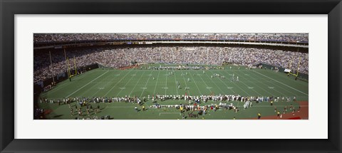 Framed Football Game at Veterans Stadium, Philadelphia, Pennsylvania Print