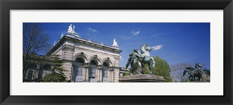 Framed Low angle view of a statue in front of a building, Memorial Hall, Philadelphia, Pennsylvania, USA Print