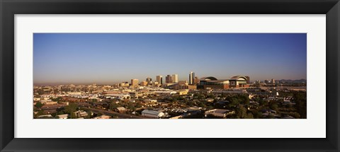 Framed Buildings in a city, Phoenix, Arizona, USA Print