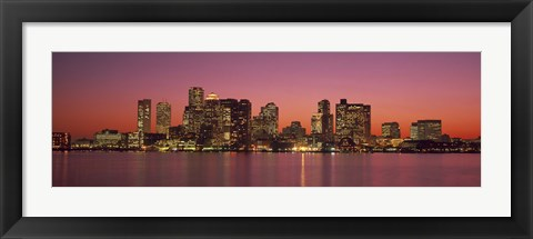 Framed Sunset Boston MA Print