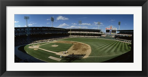 Framed High angle view of a baseball match in progress, U.S. Cellular Field, Chicago, Cook County, Illinois, USA Print