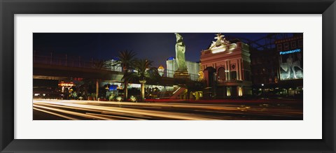 Framed Traffic on a road, Las Vegas, Nevada, USA Print