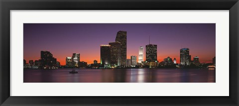 Framed Evening Biscayne Bay Miami FL Print