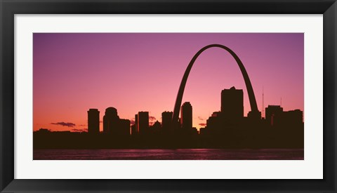 Framed USA, Missouri, St Louis, sunset Print