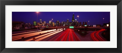 Framed Kennedy Expressway Chicago IL USA Print