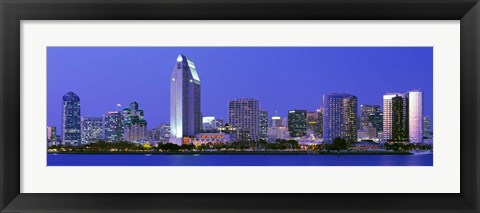 Framed Skyline, San Diego, California, USA Print