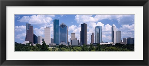 Framed Skyscrapers in a city, Houston, Texas, USA Print