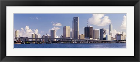 Framed Buildings at the waterfront, Miami, Florida, USA (close-up) Print