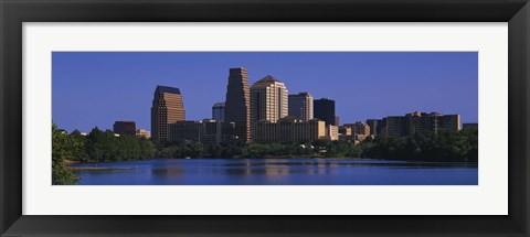 Framed Skyscrapers at the waterfront, Austin, Texas, USA Print