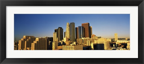 Framed Los Angeles Skyline Print