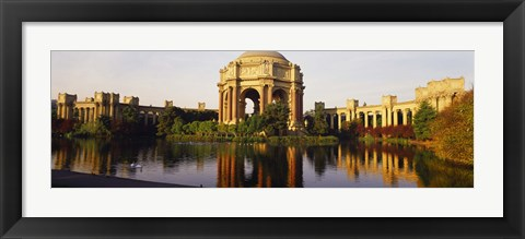 Framed Buildings at the waterfront, Palace Of Fine Arts, San Francisco, California, USA Print