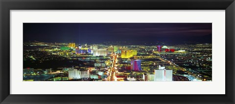 Framed Skyline, Las Vegas, Nevada, USA Print