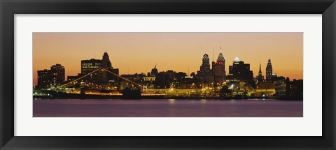 Framed Buildings at the waterfront, Philadelphia, Pennsylvania, USA Print