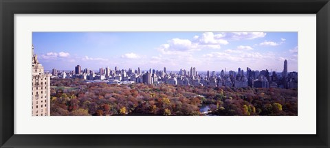 Framed Aerial View of Central Park Print