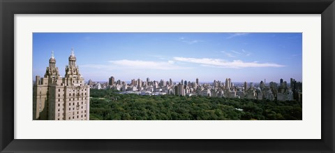 Framed Cityscape Of New York, NYC Print