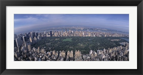 Framed Aerial Central Park New York NY USA Print