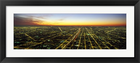 Framed Evening in Chicago IL Print