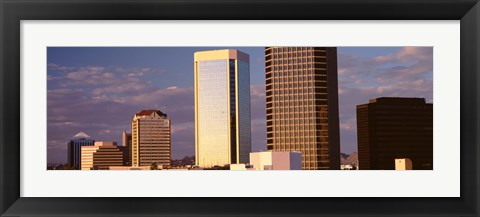 Framed USA, Arizona, Phoenix, Cloudscape over a city Print