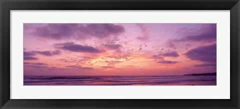 Framed Clouds in the sky at sunset, Pacific Beach, San Diego, California, USA Print