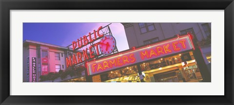 Framed Public Market Seattle WA USA Print